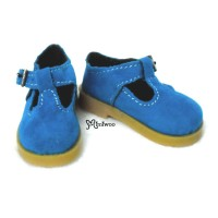 MSD bjd Obitsu 60cm Doll Shoes Velvet Mary Jane Blue SHM054BLE
