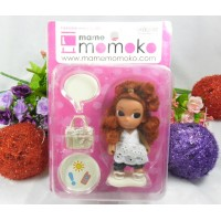 Mame Momoko Curl Hair Girl 10cm 可動 膠公仔 215900