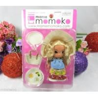 Mame Momoko Curl Hair Girl Mni Figure 10cm Doll 216310