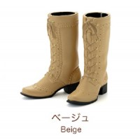 "Petworks CCS Shoes Mid-Calf Lace-Up Boots Beige fit Momoko & Ruruko ""PRE-ORDER"""