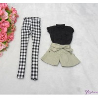 Sekiguchi Momoko Fashion Outfit Blouse, Checker Pants, Ribbon Short Pants MDS-02