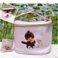 Monchhichi PU Leather Handbag Makeup Bag with Zipper 16 x 12 x 12cm 135001人造皮袋 化粧袋 135001