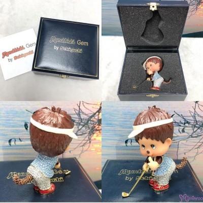 Monchhichi Gem Jewelry Swarovski Crystal Figure - Golf Player & Snow Boarder 水晶公仔 擺設 1513+1514