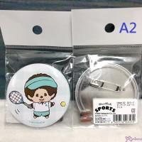 Sekiguchi Sport Monchhichi 5.7cm MCC Badge Tennis 163230