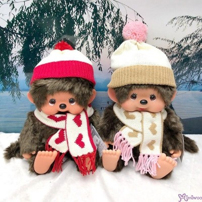 Monchhichi 2018 Warm Knit 45cm Soft Head L Size Girl Plush 冷衫 公仔 200627
