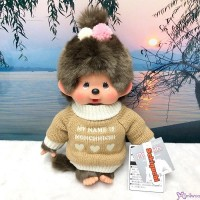 Monchhichi Warm Knit 30cm M Size Girl 冷衫 公仔 200634