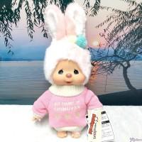 Monchhichi Warm Knit 34cm M Size Chimutan Bunny 冷衫 公仔 200658