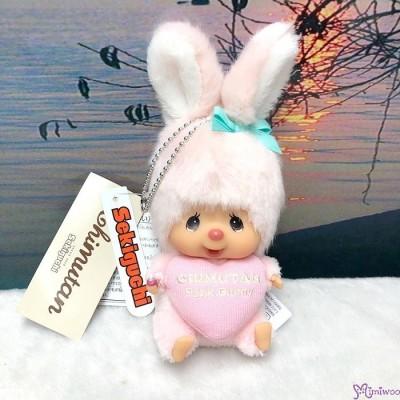 Monchhichi SS Size Warm Knit Big Head Chimutan Bunny Mascot 大頭吊飾 200672