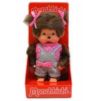 Monchhichi S Size 19cm Plush Pink Dot Ribbon Pants Girl  200790
