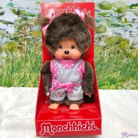 Monchhichi S Size 19cm Plush Pink Dot Ribbon Pants Girl  200790