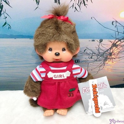 Sekiguchi Monchhichi 20cm New Holiday Dress Red Cherry Girl 200940