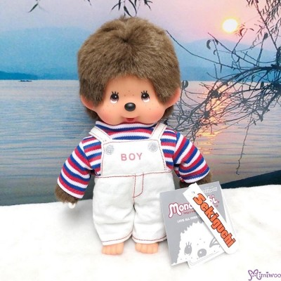 Sekiguchi Monchhichi 20cm New Holiday Dress Overall Border Tee Boy 200950
