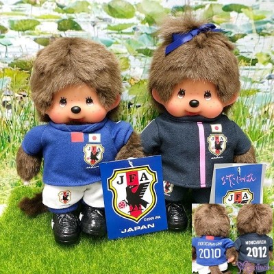 "Monchhichi S Size 2012 Football Samurai Blue Girl 日本足球隊 201260 ""Pre-order"""