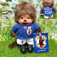 Monchhichi S Size 2010 Football Samurai Blue Boy 日本足球隊 201060