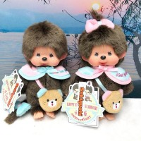 Monchhichi 45周年 Happy Trip S Size Boy & Girl 201129+201136