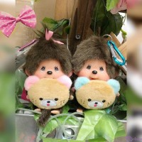 Monchhichi 45周年 Happy Trip SS Mascot Boy & Girl 201143+201150