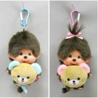 "Monchhichi 45周年 Happy Trip SS Mascot Boy & Girl 201112+201150 ""PRE-ORDER"""