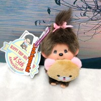 Monchhichi 45 周年 Happy Trip SS Mascot Girl 201150