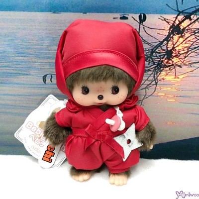 Monchhichi Bebichhichi 14cm Plush Ninja Red 紅忍者 201228
