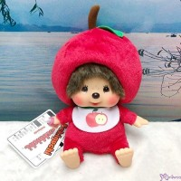 Apple Monchhichi 18cm S Size Plush Bean Bag Sitting  蘋果 201235