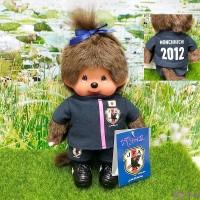 "Monchhichi S Size 2012 Football Samurai Blue Girl 日本足球隊 201260 ""Pre-order"""