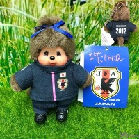 "Monchhichi Mascot Keychain Football 2012 Girl 日本足球隊 吊飾 201270 ""Pre-Order"""