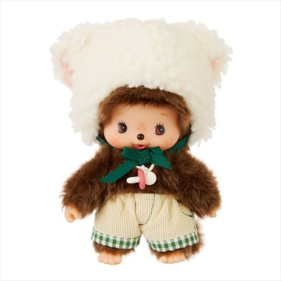 201785 Fluffy CHAMUS Monchhichi Bebichhichi Plush Sheep Boy