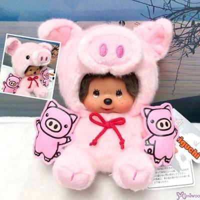 Monchhichi Pig S Size Plush 2019 Year Of Piggy 生肖 豬年 豆袋 坐姿 豬 201921