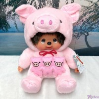 Monchhichi Pig L Size Plush 2019 Year Of Piggy 生肖 豬年 豆袋 坐姿 豬 201938