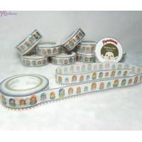 Monchhichi 40th 周年紀念 Masking Tape 日本製 公仔 膠紙 Matrioshka 203630