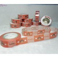 Monchhichi 40th 周年紀念 Masking Tape 日本製 公仔 膠紙 HAPPY RED 203690