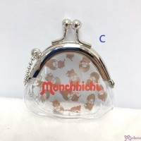 Monchhichi Transparent Plastic Coin Bag Mascot (w Metal Lock) #206619-C