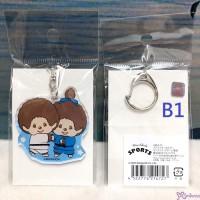 Sport Monchhichi 5cm Key Chain Mascot Plastic MCC Keychain Judo 214727