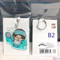 Sport Monchhichi 5cm Key Chain Mascot Plastic MCC Keychain Tennis 214734