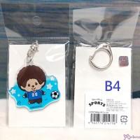 Sport Monchhichi 5cm Key Chain Mascot Plastic MCC Keychain Soccer 214758