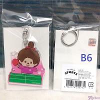 Sport Monchhichi 5cm Key Chain Mascot Plastic MCC Keychain Tabletennis 214772