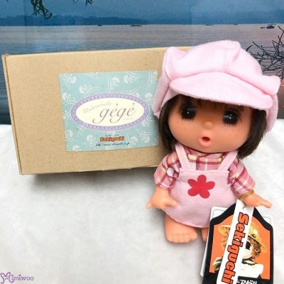 Sekiguchi GeGe 14cm Doll Overall with Pink Cap ~ RARE ~ 2193