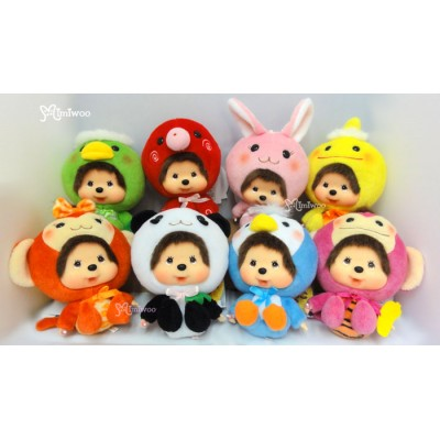Big Head Monchhichi x Chamekko Keychain Octopus Panda Monkey Bunny (Set of 8pcs) 220570set
