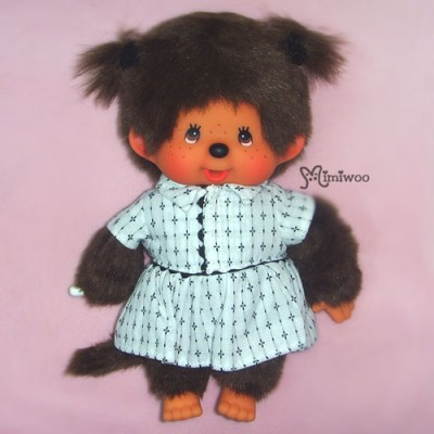 Sekiguchi Monchhichi S Size Dressed White One Piece Girl 222650