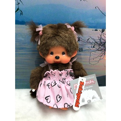 Sekiguchi Monchhichi S Size  Dressed Sun Dress Pink Girl 222660