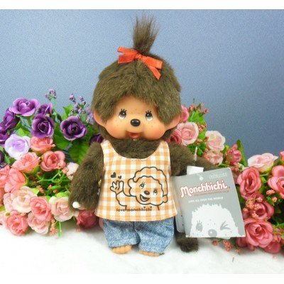 Monchhichi 20cm Plush Tee with Jeans Girl 222990