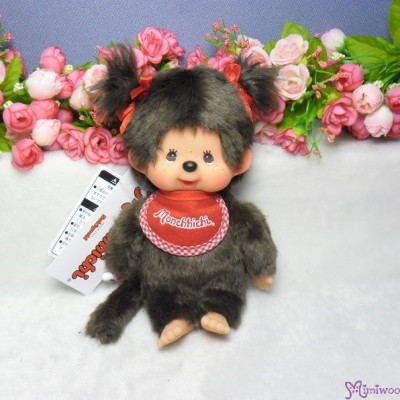 Monchhichi S Size MCC Premium Twin Tail Girl Brown 孖辮 女孩 226726