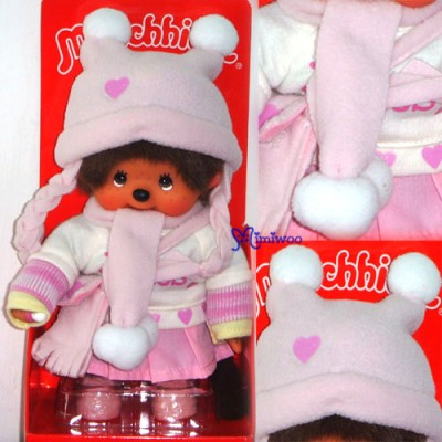 Monchhichi S Size MCC Pink Sweater Girl with Shoes 232450