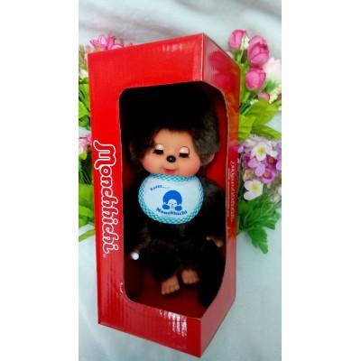 眨眼 Monchhichi 20cm Move Eyes with Blue Sleep Bib Boy 233052