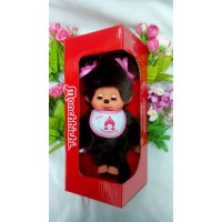 眨眼 Monchhichi 20cm Move Eyes with Pink Sleep Bib Girl 233069