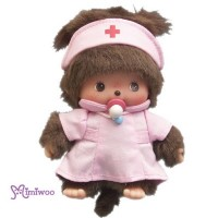 Monchhichi Baby Bebichhichi Career Play Plush - BBCC Nurse 233350