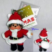 Monchhichi 10cm X'Mas Mascot Christmas Santa 聖誕老人 吊飾 234510