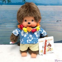 Monchhichi S Size Plush Summer Beach Hawaii Surf Boy 234680