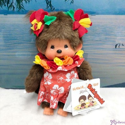 Monchhichi S Size Plush Summer Beach Hawaii Surf Girl 234690