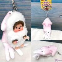 Monchhichi 8cm Plush Sushi Mascot Phone Strap Squid  壽司吊飾  魷魚 234750